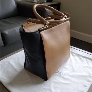 Large black & nude Michael Kors purse